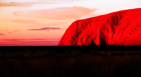 Ayers Rock At Sunset